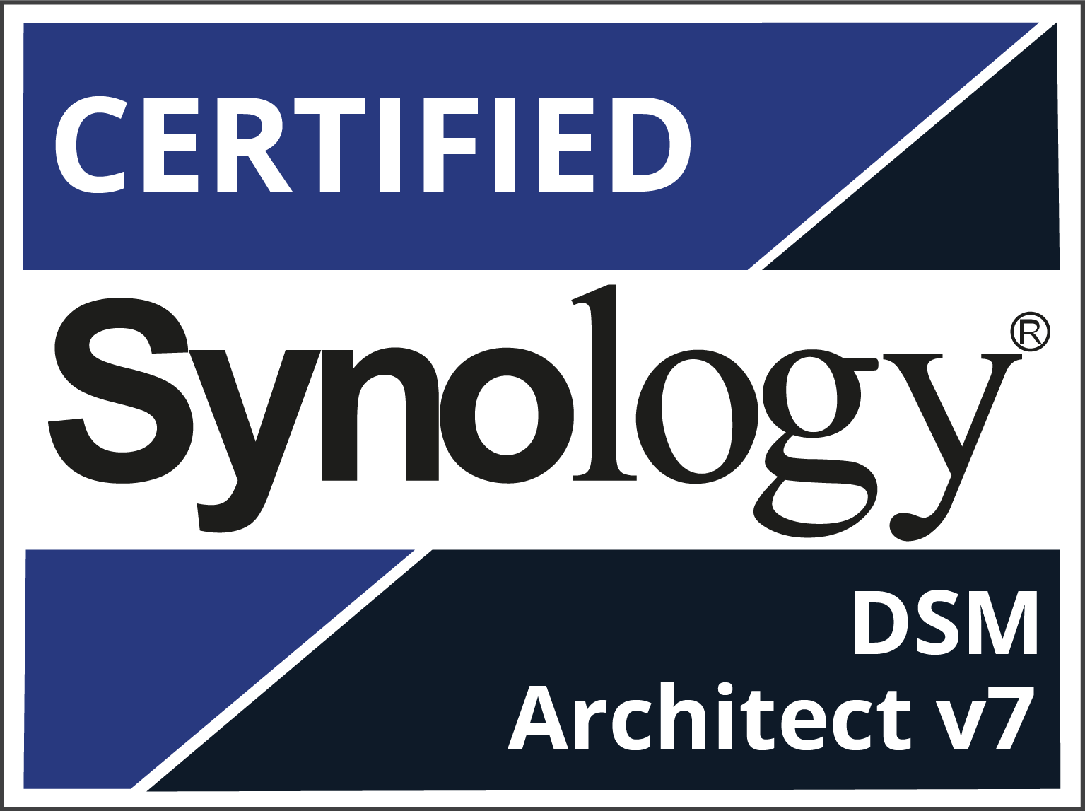 Certified Synology Partner Logo - DSM Architect